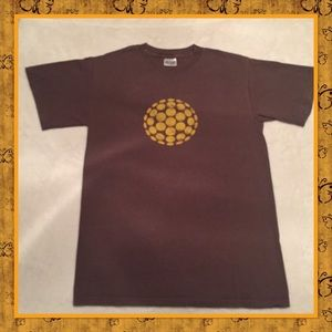 3/$15 Verb Yellow Ball Graphic Brown Tee 🏝⛵️